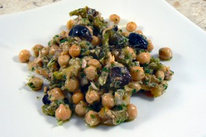 Salade portugaise aux pois chiches slider