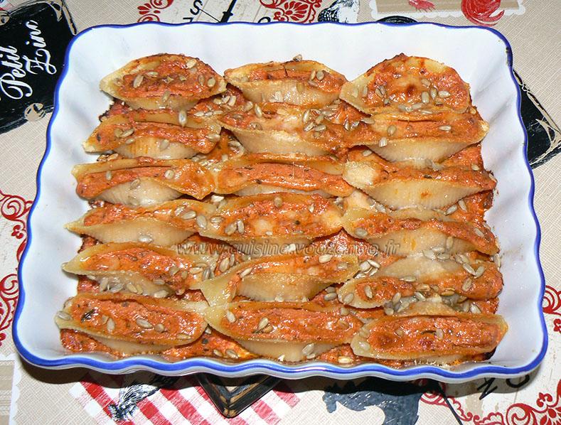 Conchiglionis, sauce tomates à la ricotta fin2