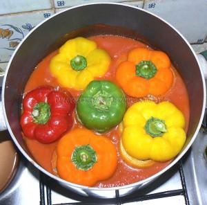 Poivrons farcis serbe, punjene paprike etape3