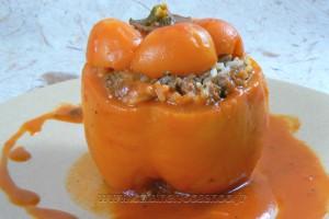 Punjene Paprike, poivrons farcis serbe (пуњене паприке)