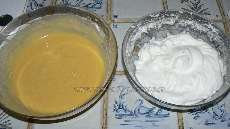 Pate à gaufre pour cornet et coupelle etape1