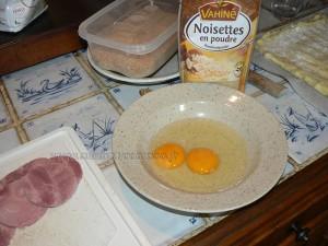 Palet de purée au jambon en panure de noisettes etape5