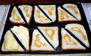 Camembert normand sur toast etape1