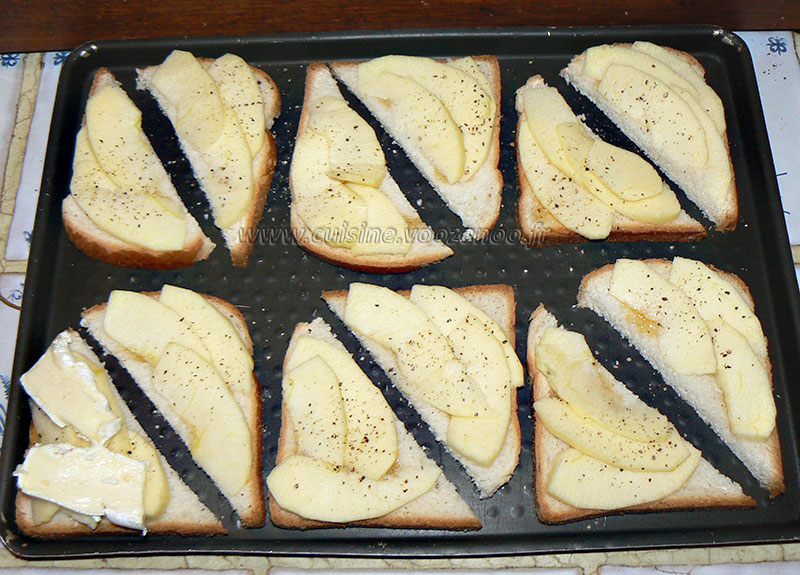 Camembert normand sur toast etape2