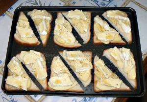 Camembert normand sur toast etape3
