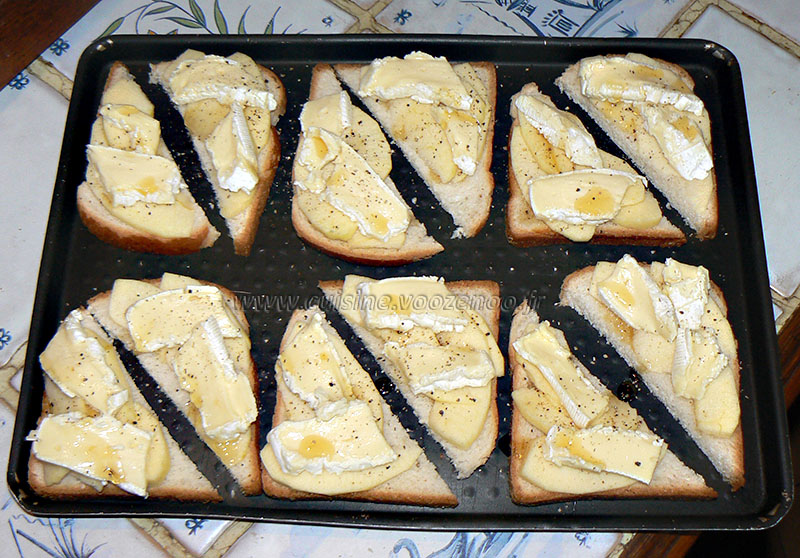 Camembert normand sur toast etape3