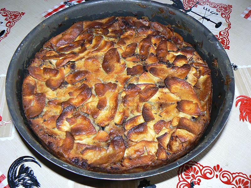 Gâteau invisible aux pommes et cacao fin