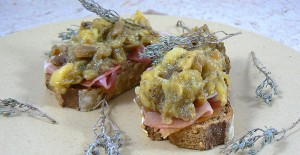 Tartines aux senteurs du sud aubergines ail et thym slider
