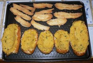 Egg boats : courge spaghettis, bacon, oeufs et comte etape4