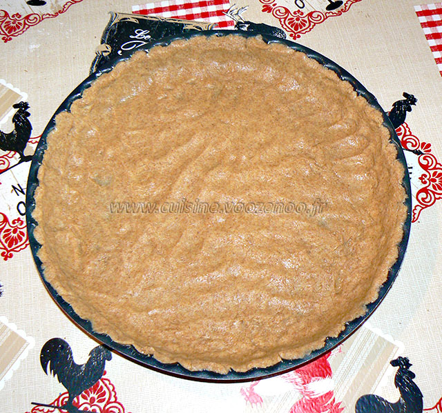 Mustikkakukko, tarte sablée aux myrtilles etape3