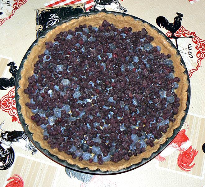 Mustikkakukko, tarte sablée aux myrtilles etape4