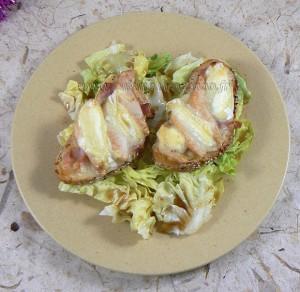 Tartines au jambon, poire et rocamadour fin