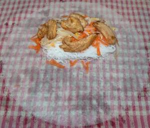 Rouleaux de printemps au poulet mariné etape3