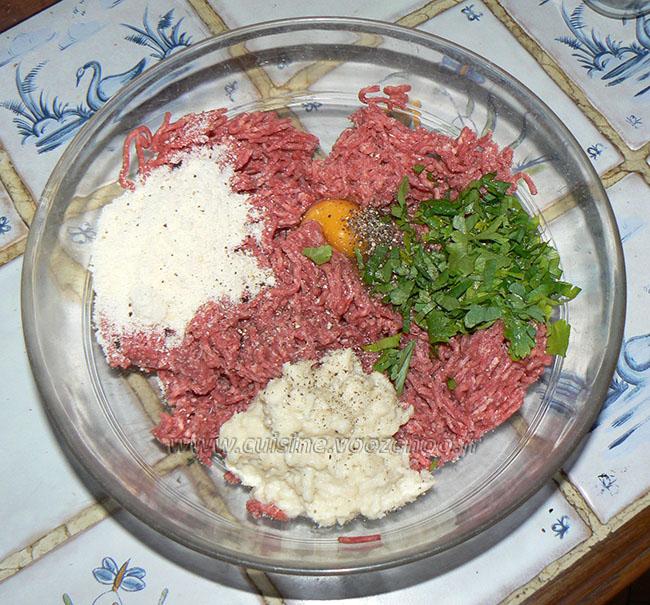 Polpettes à la mozzarella tomate et anchois etape2