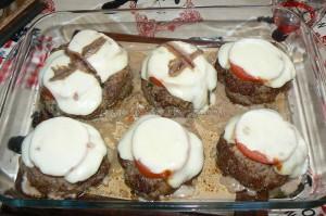 Polpettes à la mozzarella tomate et anchois fin
