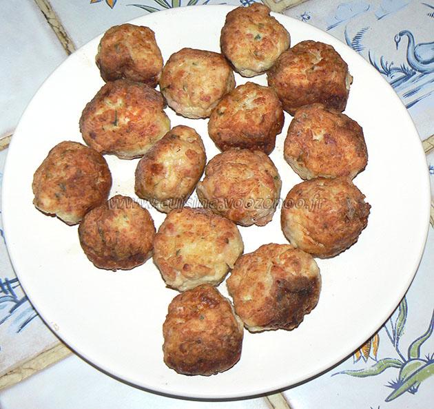 Boulettes de poulet, sauce coco et citron vert etape4