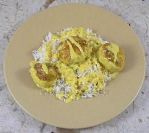 Boulettes de poulet, sauce coco et citron vert fin2