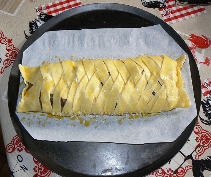 Feuilleté à la compote de pommes maison et chocolat etape5
