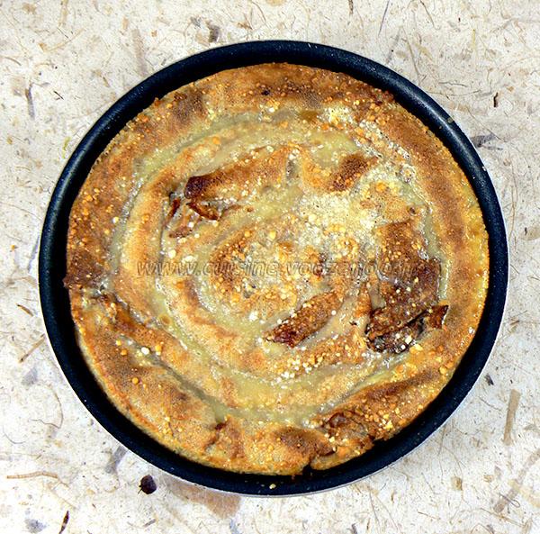 Grain de crêpes aux noix serbe presentation