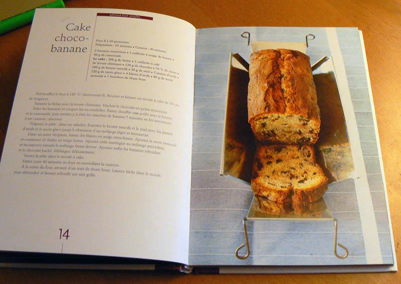 Cake choco-banane de Christophe Felder recette