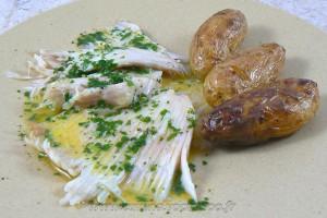 Ailes de raie sauce au beurre fondu ou aux câpres