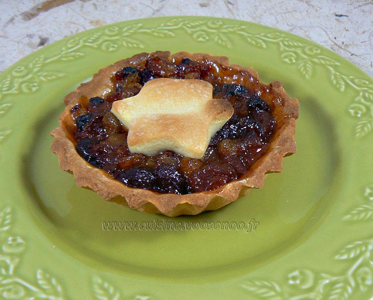 Mince pies, specialite anglaise aux fruits secs presentation