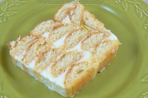 Charlotte façon cake aux deux citrons