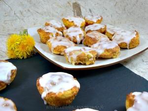 Muffins au citron et à la pomme de terre presentation
