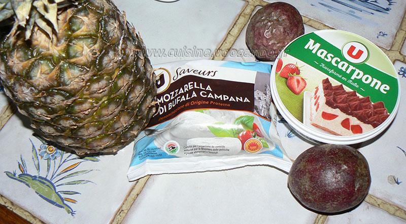 Tiramisu exotique à la mozzarella etape1