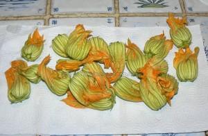 Beignets de fleurs de courgettes etape2