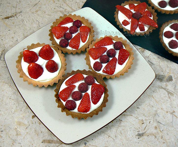 Tartelettes fraises – framboises gourmandes fin