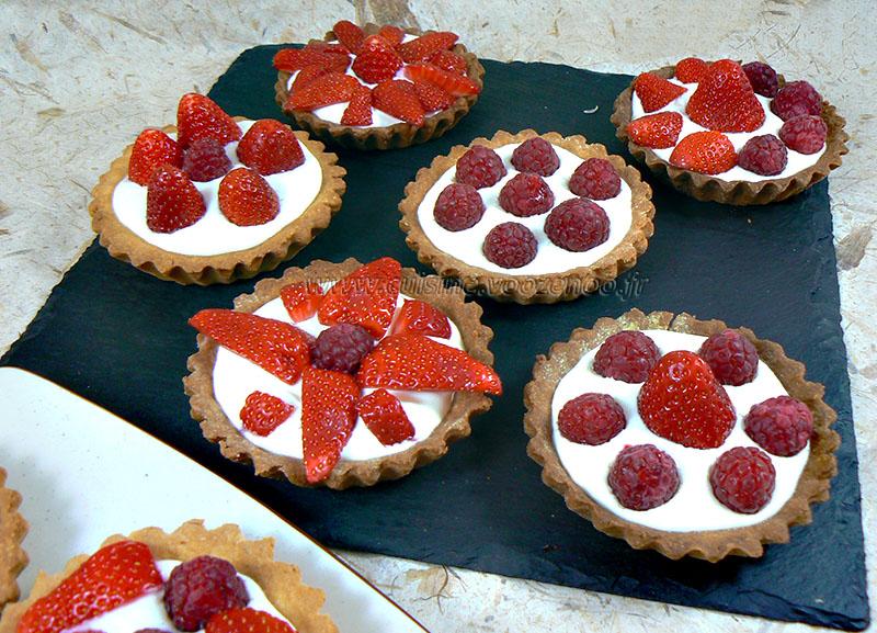 Tartelettes fraises – framboises gourmandes fin4