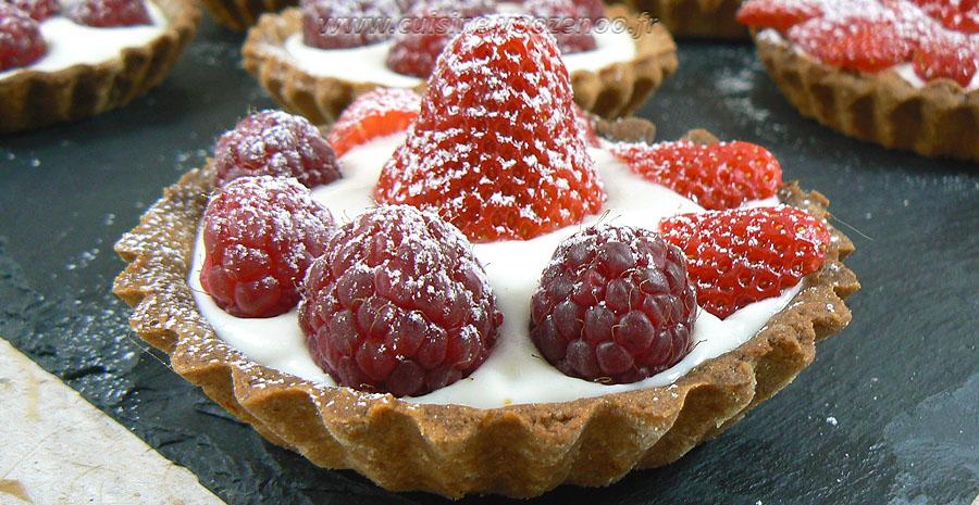 Tartelettes fraises – framboises gourmandes