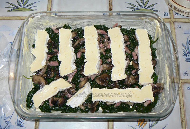 Lasagnes au coulommiers et epinards etape3