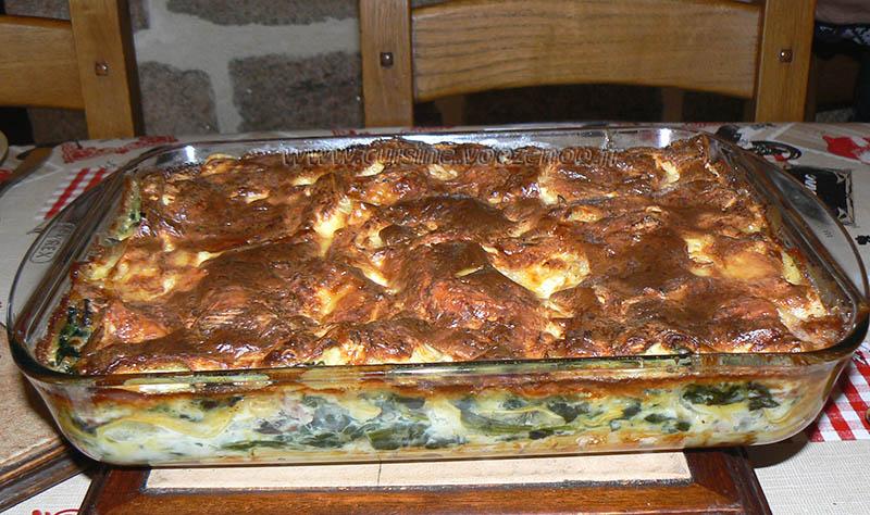 Lasagnes au coulommiers et epinards fin