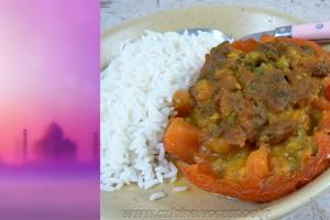 Tomates farcies à l'indienne vegetarienne slider
