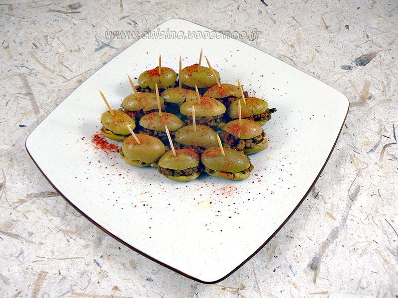 Olives vertes farcies fin