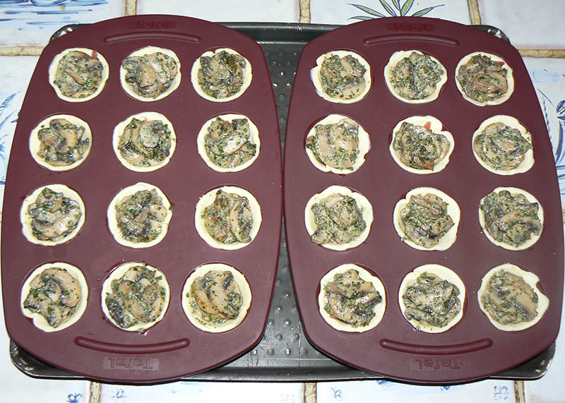 Mini-tartelettes aux champignons cremeux etape3