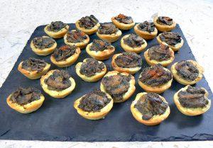 Mini-tartelettes aux champignons cremeux fin