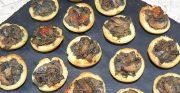 Mini-tartelettes aux champignons crémeux