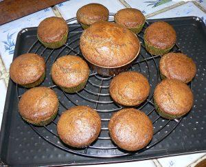 Cupcakes noix de pecan, topping creme de sirop d'erable fin