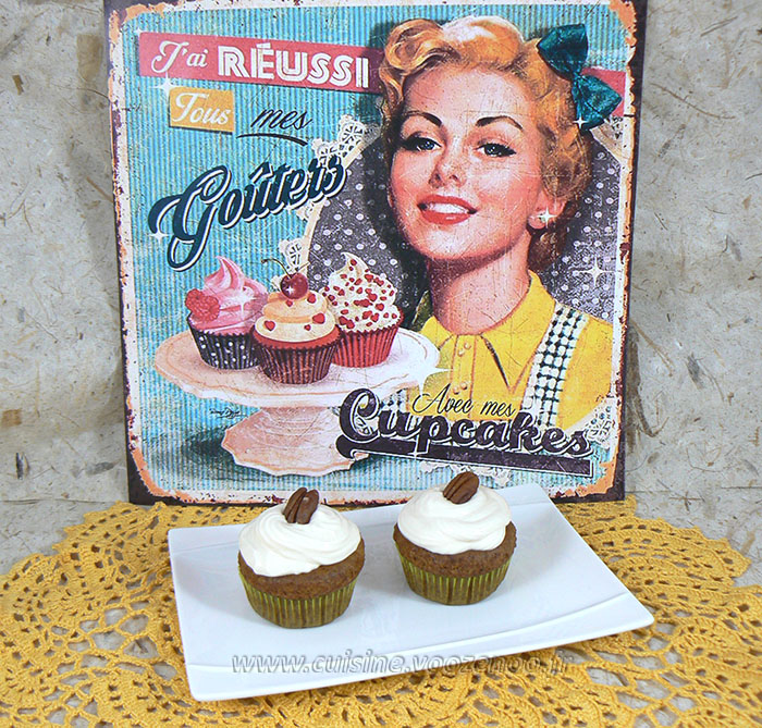 Cupcakes noix de pecan, topping creme de sirop d'erable fin2