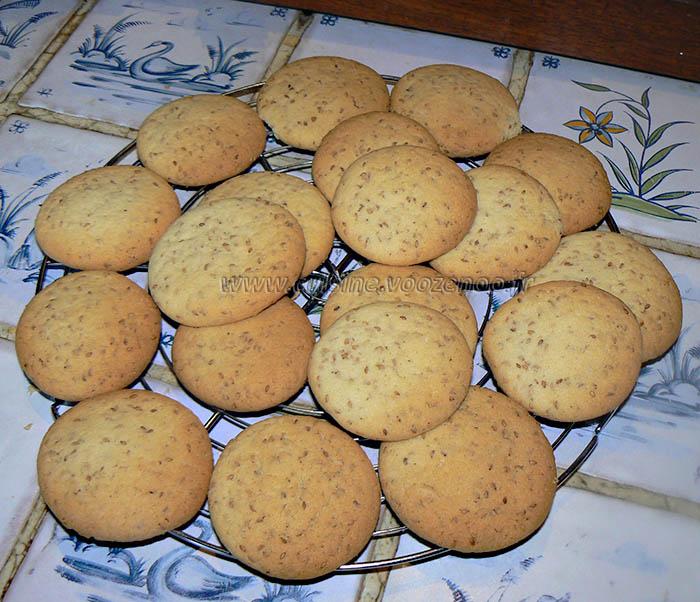 Cookies aux graines de sesame fin