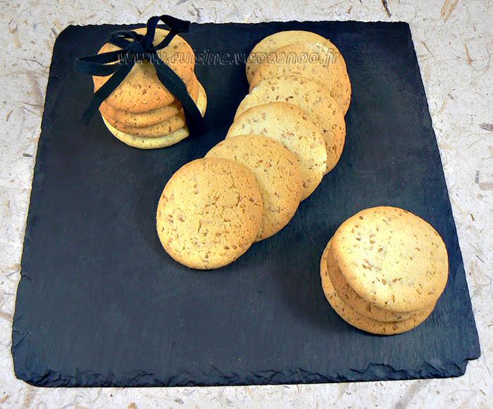 Cookies aux graines de sesame fin3