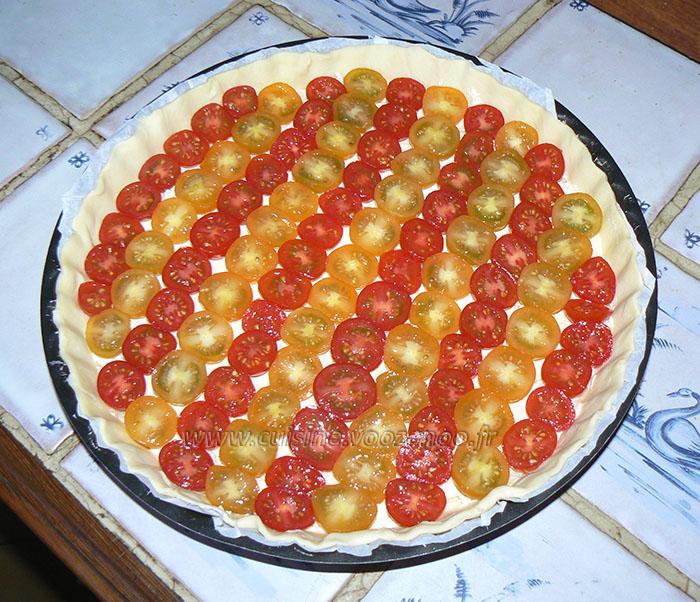 Tarte bicolore aux tomates cerises etape3