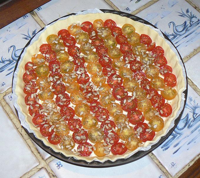 Tarte bicolore aux tomates cerises etape4