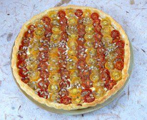 Tarte bicolore aux tomates cerises presentation2