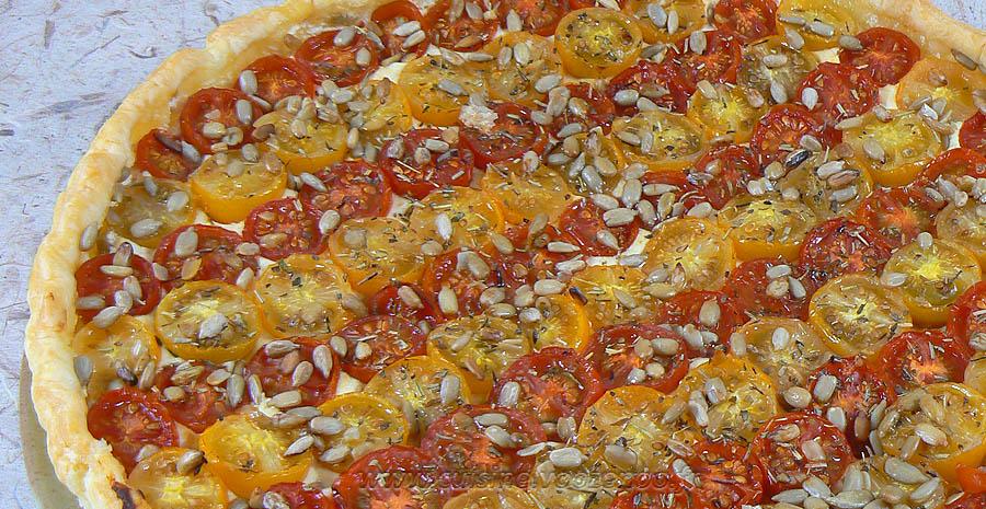 Tarte bicolore aux tomates cerises slider