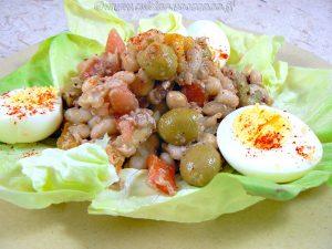 Empedrat, salade de legumineuses catalane presentation