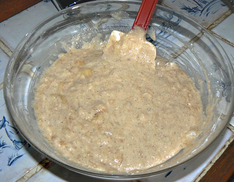 Gâteau renversé à la banane, mirabelles caramelisées etape1